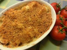 Cauliflower, Leek and Mushroom Gratin