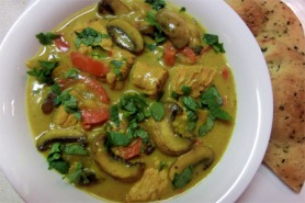Turkey and mushroom curry