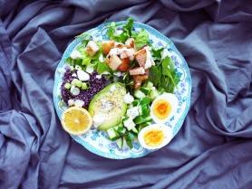 Caesar Salad with Eggs, Quinoa & Avocado