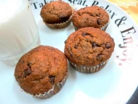 Banana Chocolate Muffins (Eggless)