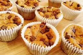 Secretly Healthy Vanilla Chocolate Chip Muffins