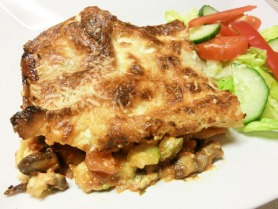 Courgette and Mushroom Lasagne