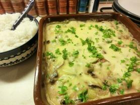 Creamy Chicken, Leek and Mushroom Casserole
