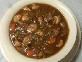 Slow Cooked Beef with Shallots and Button Mushroom