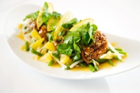 Warm Sesame Glazed Duckwith Dressed Salad