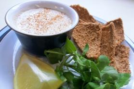 Smoked mackerel pate with melba toast