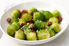 Thanksgiving Brussel Sprouts With Bacon