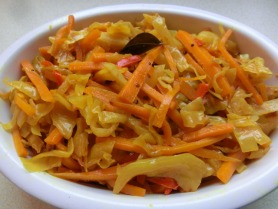 South Indian carrot and cabbage