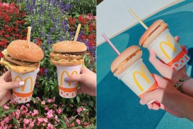 Hamburger straw