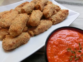 Crab Croquettes with Red Pepper Sauce