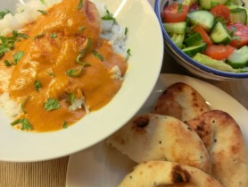Chicken with creamy turmeric sauce