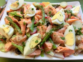 Hot Smoked Salmon with Asparagus