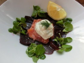 Smoked Salmon Salad with Horseradish Cream