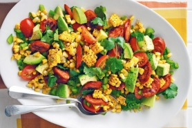 Barbecued Corn and Beef Chorizo Salad