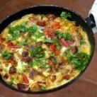 Pepper and chorizo picnic frittata