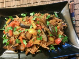 Aubergine and Chilli Stir Fry