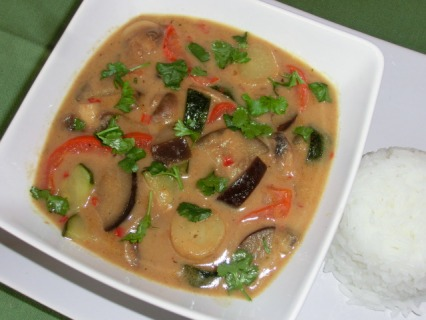 Yellow Thai Aubergine Curry