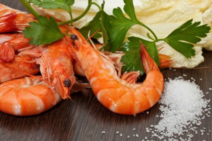 Spicy Prawns with Coriander and Tomato