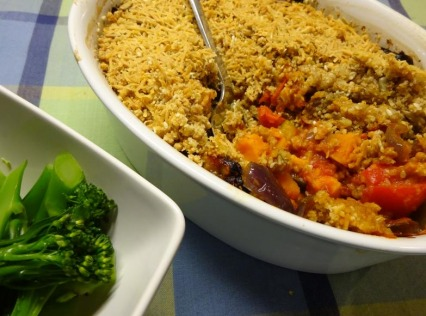 Roast Mediterranean Vegetable Crumble