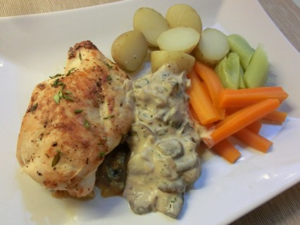 Stilton Stuffed Chicken and Mushroom