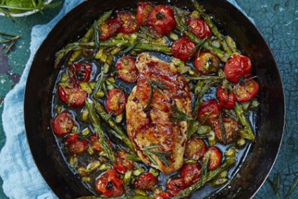 Roasted Chicken Breast with Cherry Tomatoes