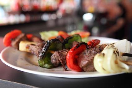 BBQ Steak and Vegetable Kebabs
