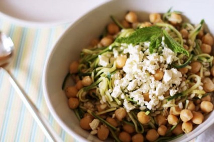 Chickpea, Barley and Zucchini Salad