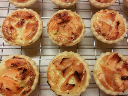 Salmon and Spring Onion Tarts