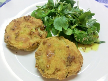 Smoked Mackerel Fishcakes with Watercress Salad