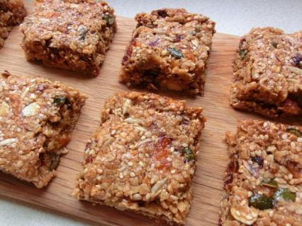 Date and Apricot Granola Squares