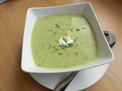 Chilled Pea, Mint and Watercress Soup
