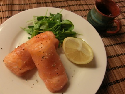 Salmon Parcels with Honey & Lime Dressing