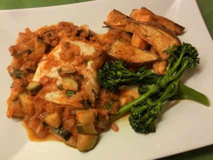 Haddock in Tomato and Courgette Sauce