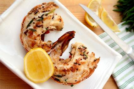 Omani Lobster with za'atar and garlic