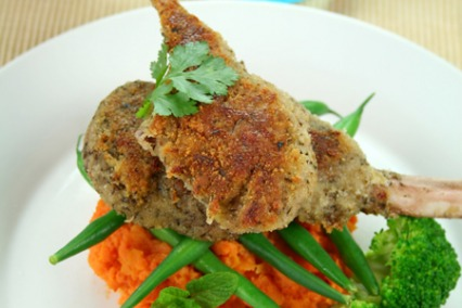 Indian lamb cutlets with coriander