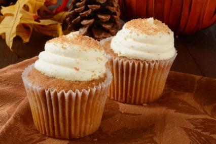 Cream Filled Pumpkin Cupcakes