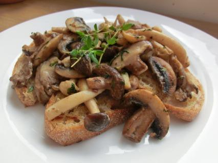 Mushrooms on Sourdough Toast